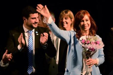 Marcos Cleri con Cristina Fernandez
