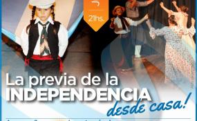 """El Gobierno de Avellaneda y la Escuela de Formación Integral Nº 2060 invitan a la comunidad a disfrutar de la transmisión en vivo de """"La previa de la Independencia desde casa""""."""