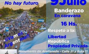 Invitan a un banderazo para este 9 de julio en el monumento de Avellaneda. Qué nos contó uno de los voceros de la organización. AUDIO.