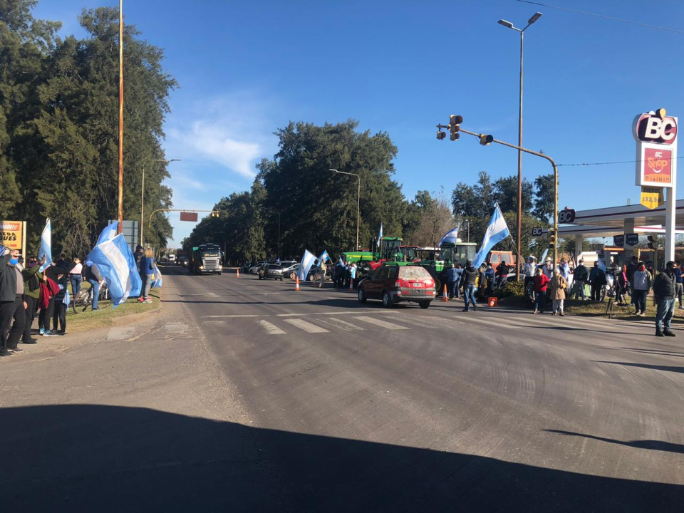 Banderazo en Avellaneda.