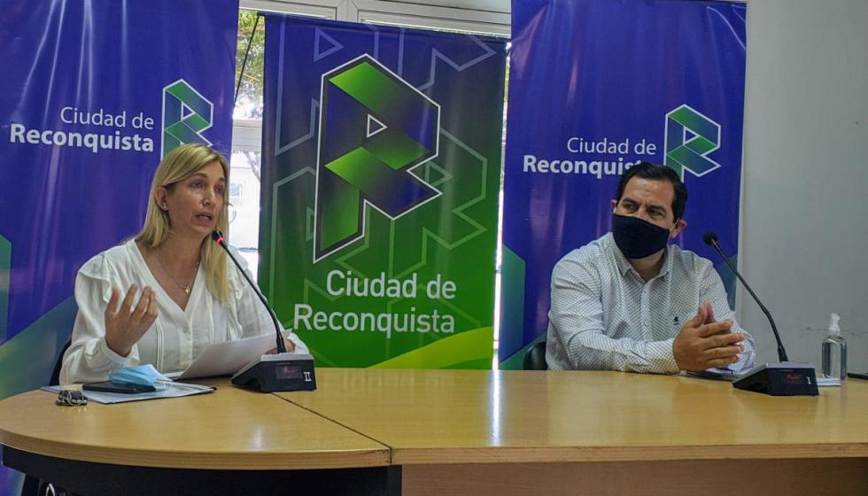 Leira Mansur y Amadeo Vallejos.