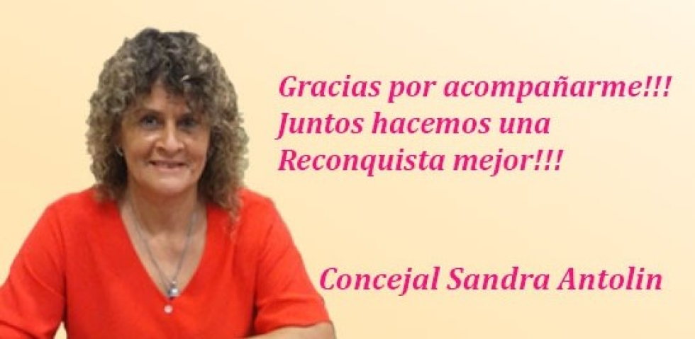 Concejal Sandra Antolín.