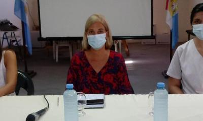 """Leira Mansur anunció que quedó """"momentáneamente"""" a cargo de la dirección del Hospital Regional."""
