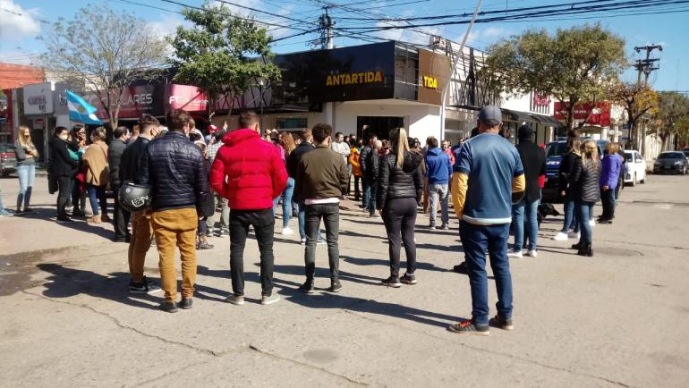 Manifestación de comerciantes