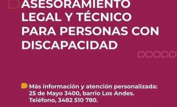 La Municipalidad de Reconquista comienza su recorrida barrial brindando asesoramiento a personas con discapacidad
