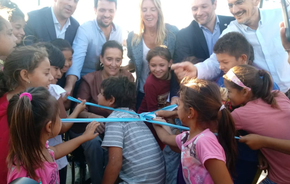 Inauguraron las obras de urbanización del barrio Cooperación Sector Norte de Avellaneda.