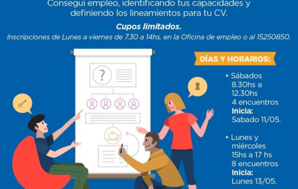 Si sos mayor de 18 años y estás buscando empleo, el Gobierno de Avellaneda te invita a participar de un Taller de orientación laboral. Cupos limitados.