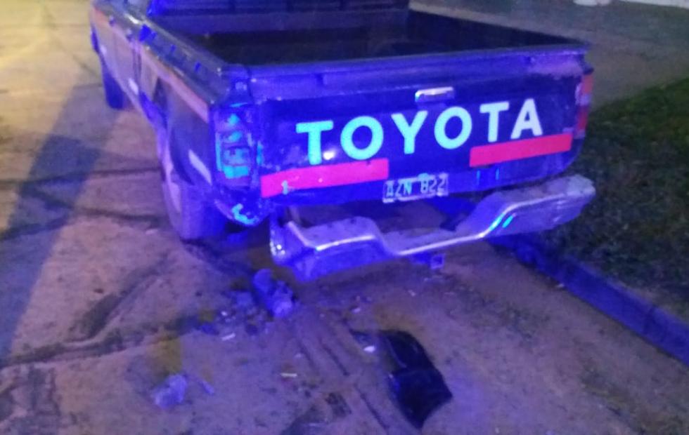 Encontraron una camioneta chocada pero en el lugar no estaba su conductor ni tampoco otro vehículo que suponga haya estado involucrado.