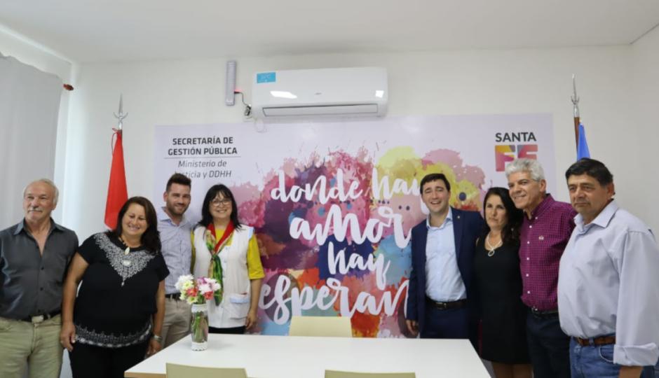 Quedó inaugurado el nuevo Registro Civil de la localidad de Alejandra.