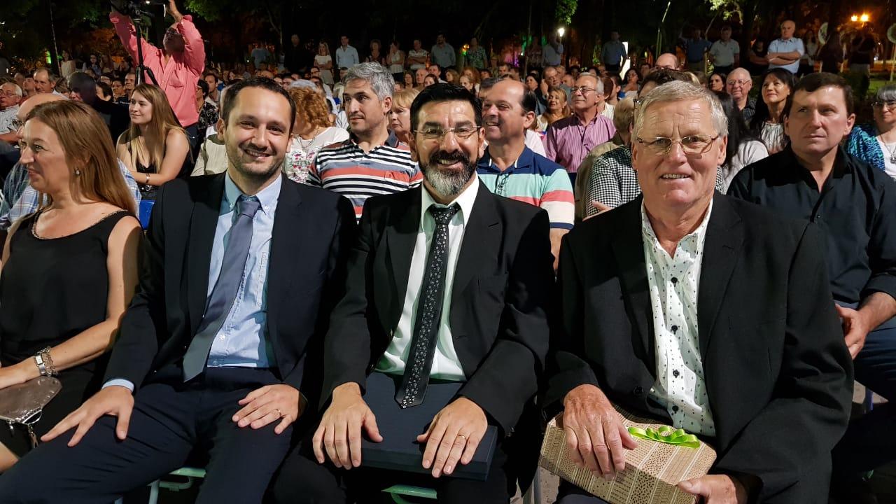 06122019 Guillermo Bressán Osvaldo Fernández y Amaro Serafini los 3 que terminaron su mandato de concejal.jfif