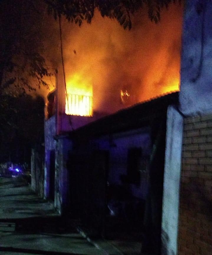 Incendio de vivienda.
