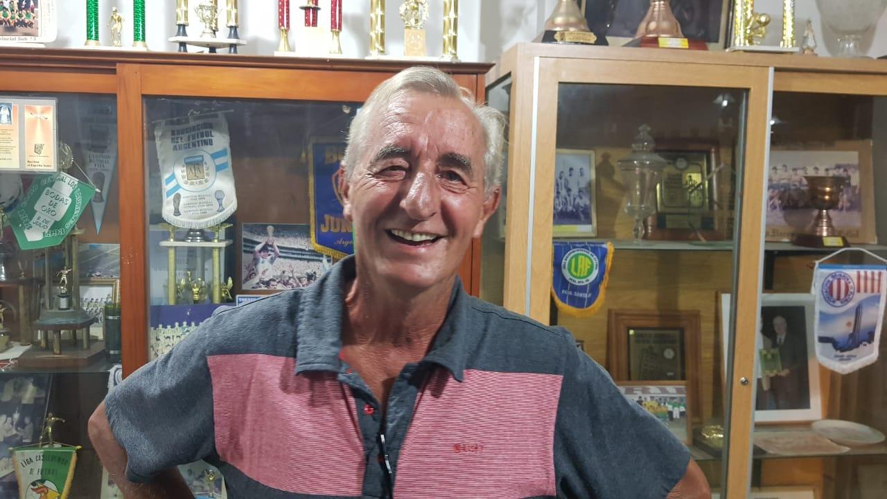 14022020 Miguel Visentín al ser electo presidente de la Liga Reconquistense de Fútbol.jfif