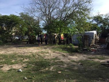 Terraplén del Arroyo del Rey nuevo barrio de Reconquista asentamiento mayo 2019 c.jpg