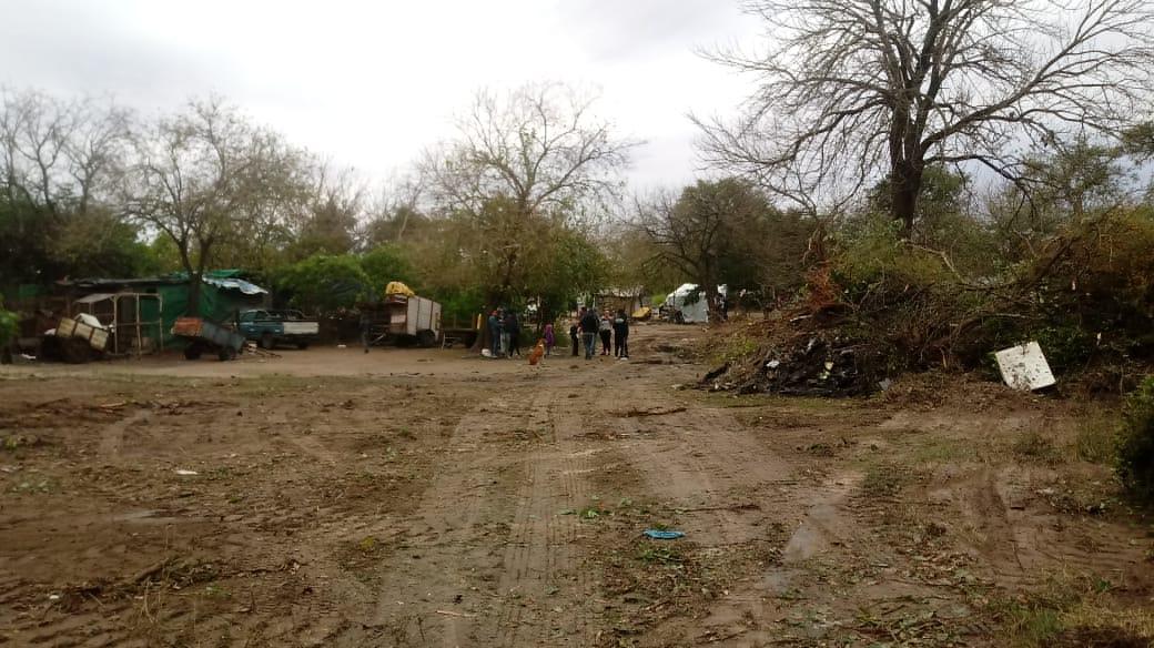 El asentamiento irregular de Independiencia y San Lorenzo.