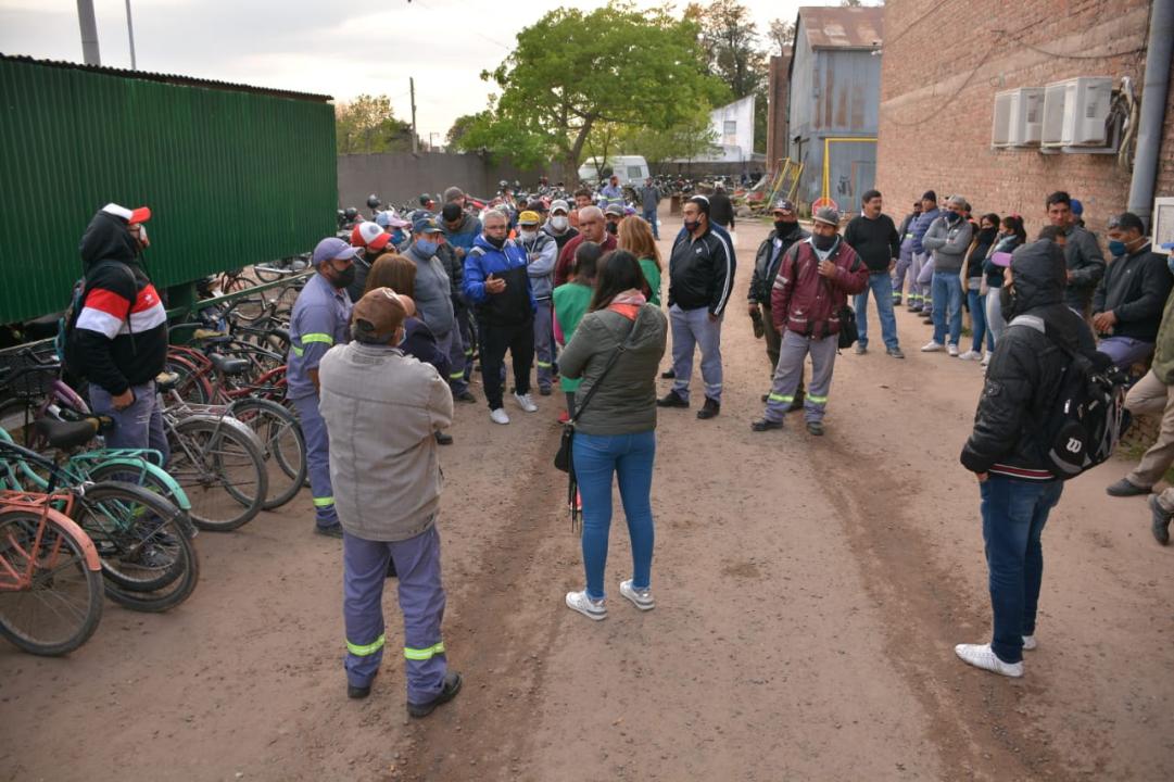 Movilización de municipales.