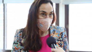 la ministra de Ambiente y Cambio Climático, Erika Gonnet.