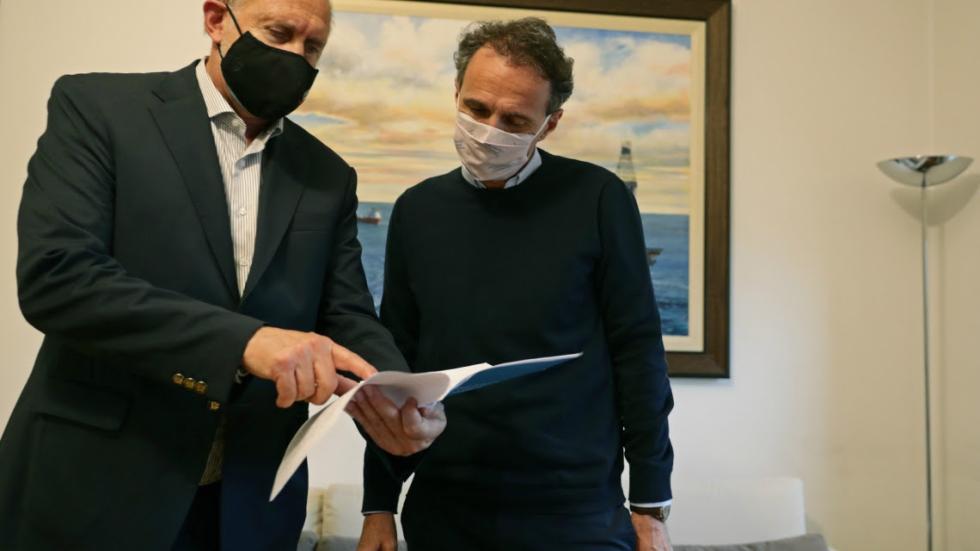 El gobernador Perotti y el ministro de Obras Públicas de la Nación Katopodis.