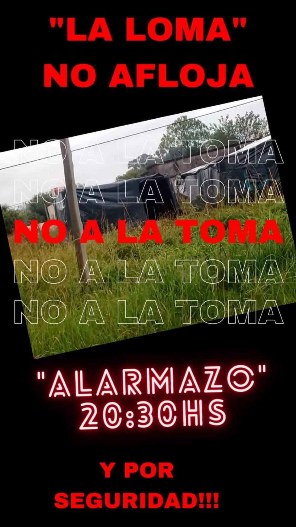 Alarmazo en Barrio La Loma protesta de vecinos
