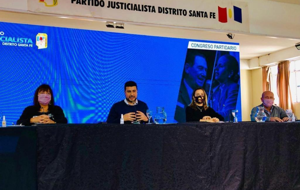Marcos Cleri presidió el Congreso del Partido Justicialista de la provincia de Santa Fe.