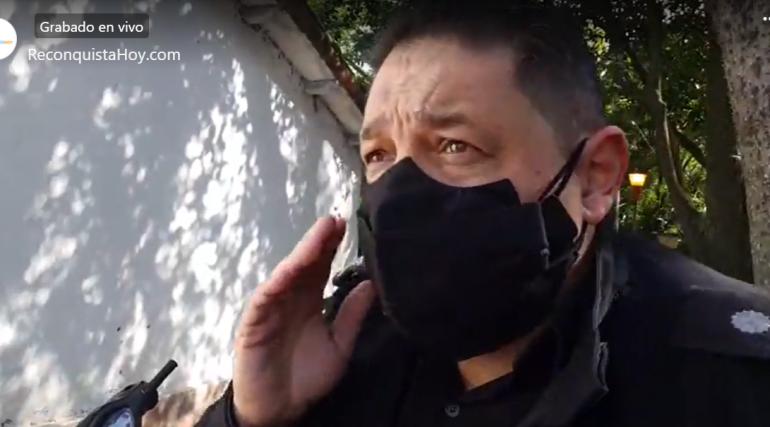 Dante Trosch Policía herido usurpación de terrenos en Barrio Belén 10 junio 2021