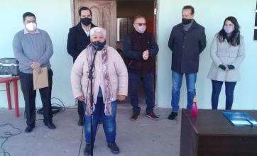 El Ministro Lagna junto al Intendente Vallejos firmaron el convenio para la construcción del Destacamento Policial en Barrio La Loma
