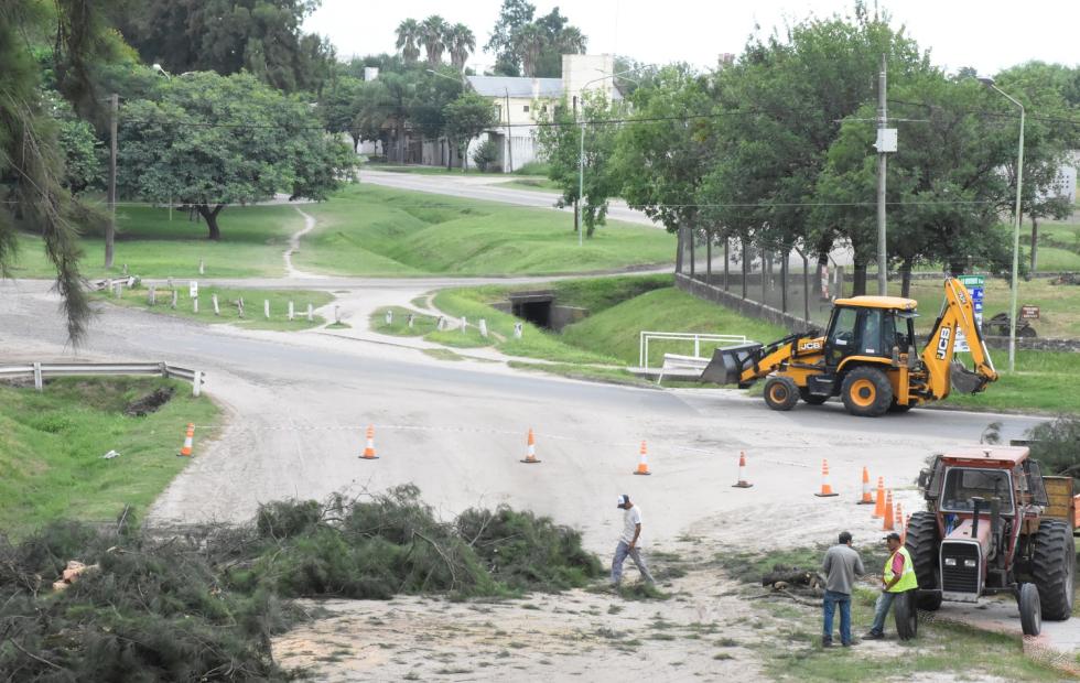 Avellaneda: Se iniciaron las tareas previas a la construcción de la rotonda en Calle 1 y 20.