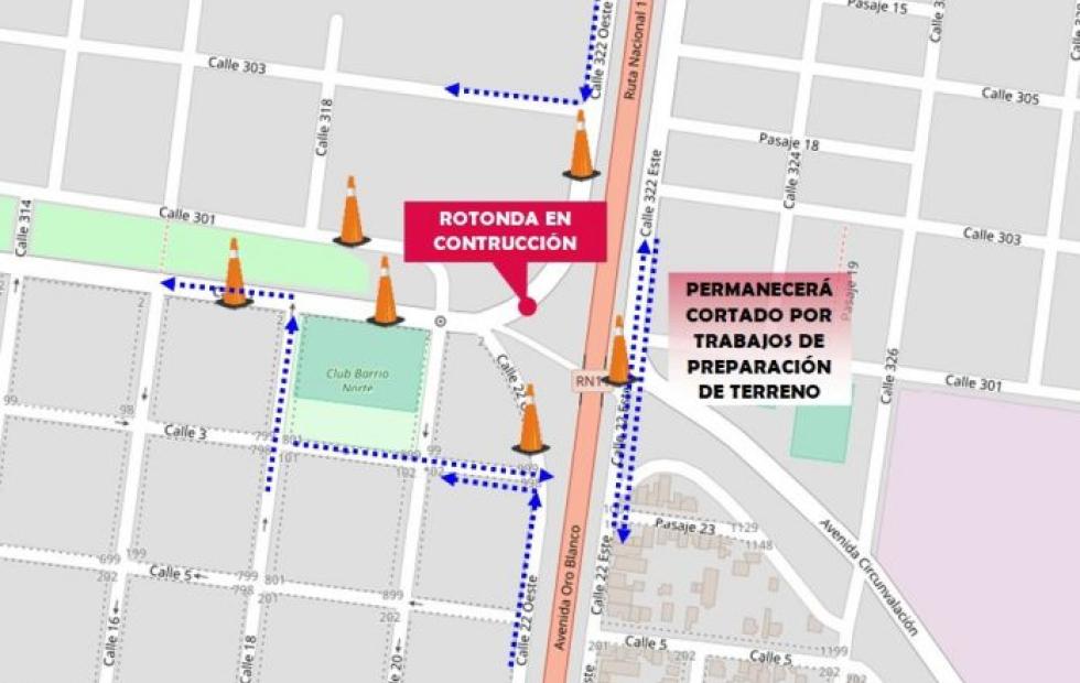 Debido al inicio de la construcción de una rotonda clausuran vías de circulación en Avellaneda.