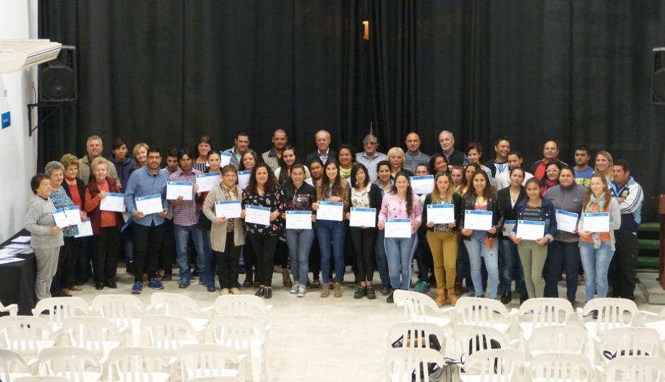Certificados de capacitación para más de 90 malabriguenses