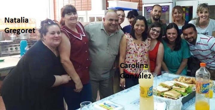 Carolina González y Natalia Gregoret directora y sec Escuela 462 separadas del cargo en julio 2019.jpg