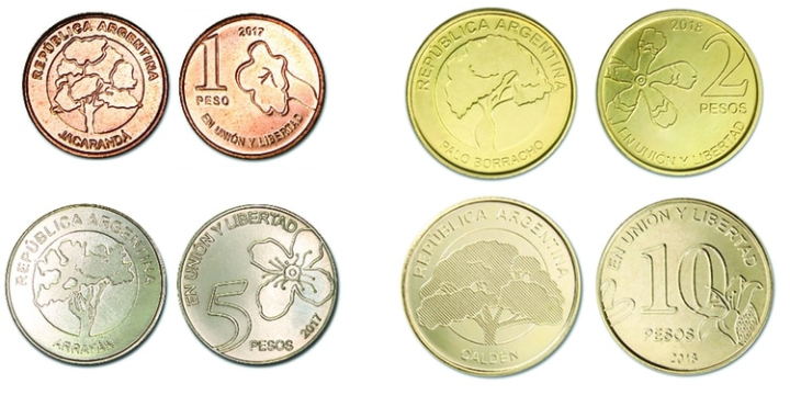 Nuevas monedas Argentina