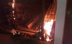 Se incendió una vivienda de calle Brown.