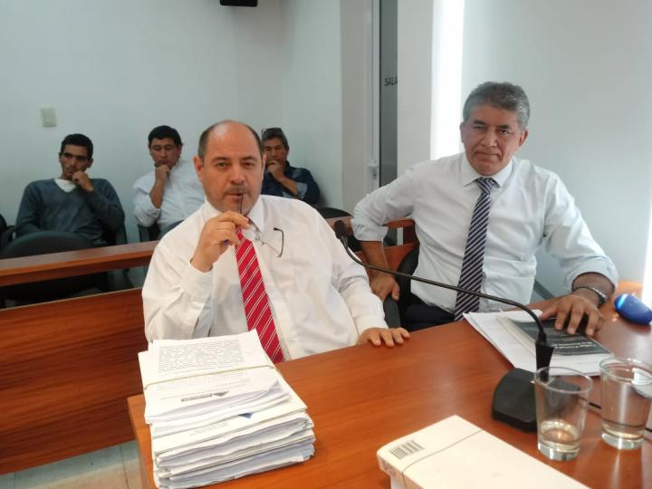 Fiscal Rodríguez y Lucio Vallejos.