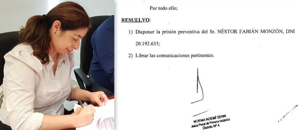 jueza Norma Senn prisión preventiva Néstor Monzón ya condenado en primera instancia dic 2019.jpg