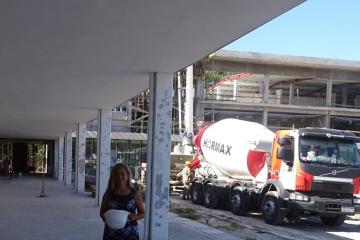 Obra del edificio para el ISP N° 4, Ángel Cárcano.