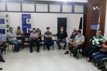 Reunión de la Municipalidad de Reconquista y clubes por un protocolo para retomar actividades.