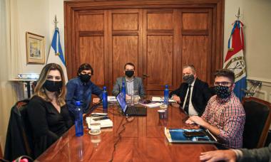 reunión Joaquín Blanco Víctor Sarnaglia Comisión de Seguimiento