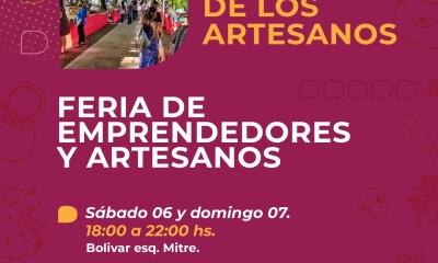 La Municipalidad de Reconquista invita a disfrutar del fin de semana en el nuevo Paseo de los Artesanos.