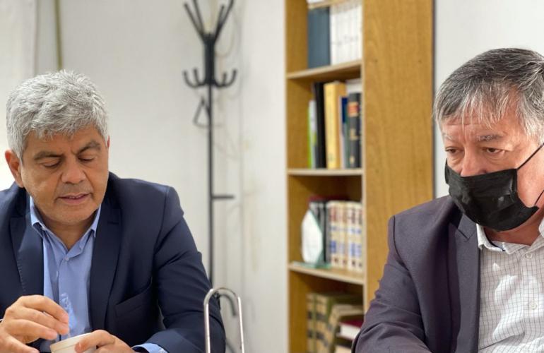 El Fiscal General Jorge Baclini y el Fiscal Regional Rubén Martínez.