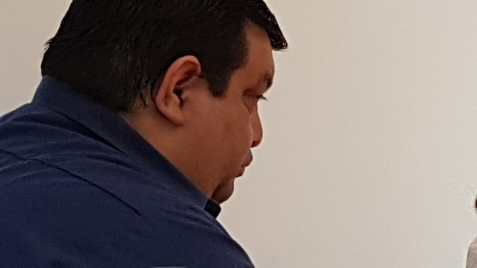 17122018 policía José Luis Saieg al escuchar que quedaba absuelto.jpg