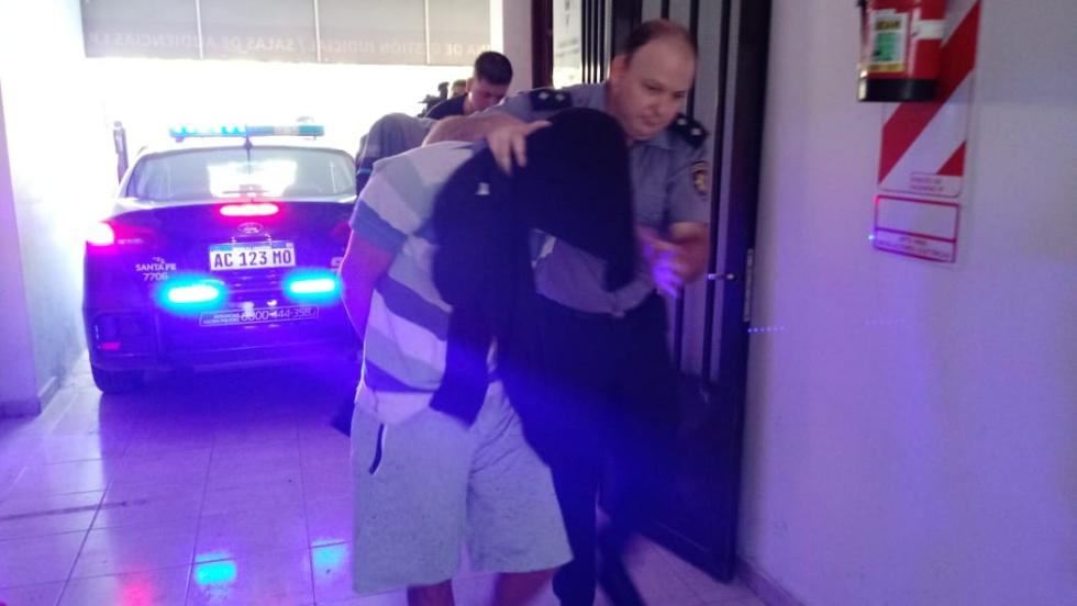 Llegada a Tribunales de Jonatan Ortigoza y Kevin Martinez c