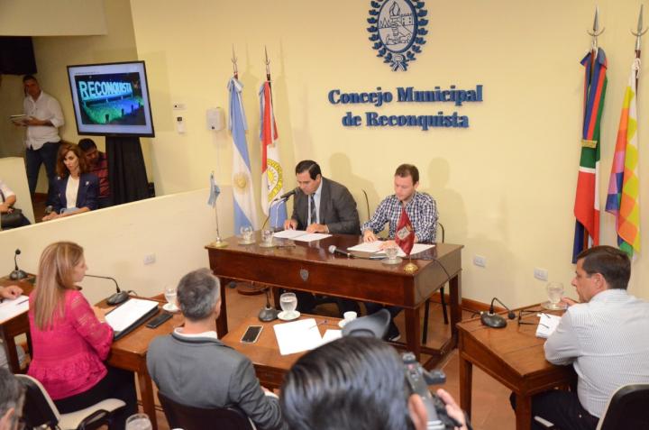 Discurso anual del intendente en el Concejo Enri Vallejos Francisco Sellares