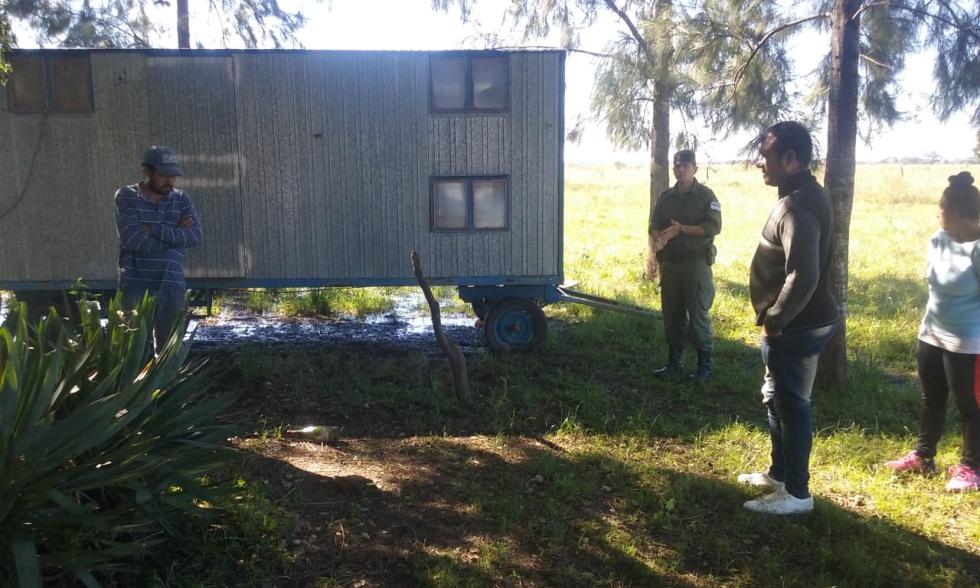 14052019 allanamiento de Gendarmería en casa de campo de José Ubeda en paraje Colmena de Avellaneda drogas armas balanza etc b.jpg