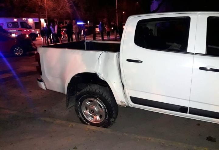 08092019 choque en Malabrigo auto de Ezequiel Muchiut y camioneta de Ernesto Centis lat der cam.jpg