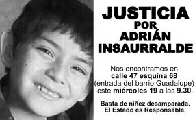 Convocan a una concentración para pedir justicia por Adrián Valentín Insaurralde.