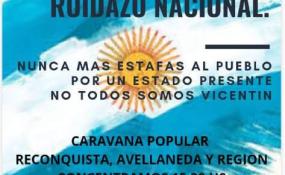 Convocan a una caravana y ruidazo en Reconquista en apoyo al gobierno nacional.
