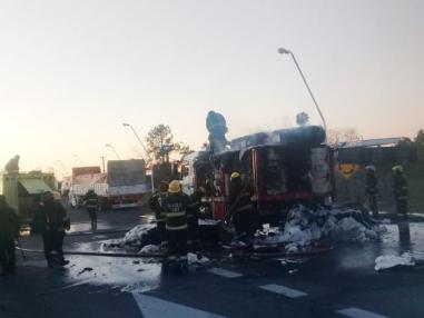 Se incendió un camión en Chaco.
