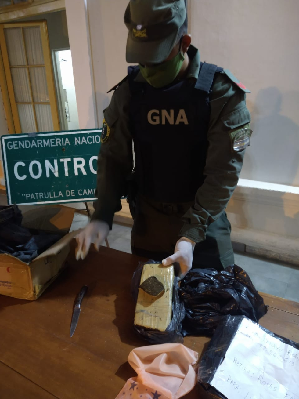 Gendarmería encomienda 23 feb 2021 en Vera detenido Mendoza