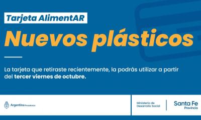 Los nuevos plásticos podrán ser utilizados a partir del 3° viernes de Octubre. Mientras tanto, los beneficiarios continuarán percibiendo el beneficio a través de la AUH