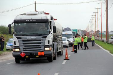 corte de ruta camiones