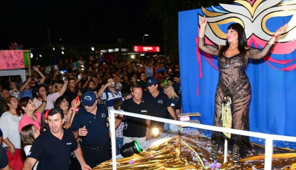 Moria Casan estará presente en la noche apertura de los Carnavales de Reconquista. Este jueves comienza la venta de entradas.